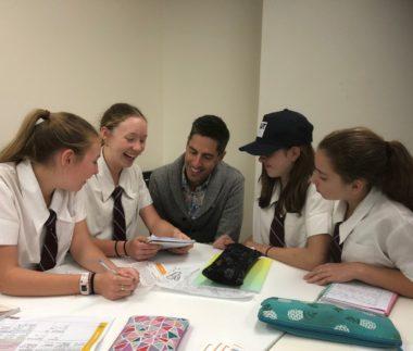 BHP Blaine with students